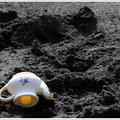 Teapot in the sand